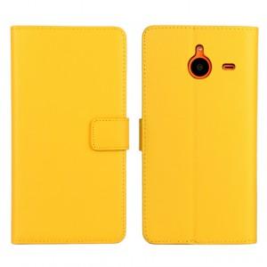 Чехол портмоне подставка с защелкой для Microsoft Lumia 640 XL Желтый