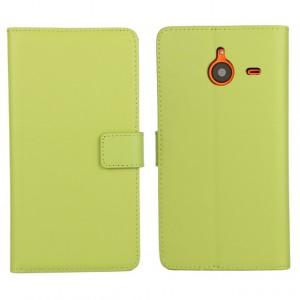 Чехол портмоне подставка с защелкой для Microsoft Lumia 640 XL Зеленый