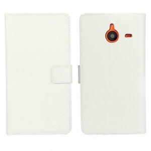 Чехол портмоне подставка с защелкой для Microsoft Lumia 640 XL Белый