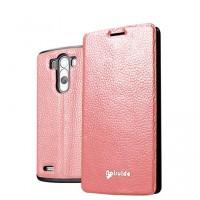 Чехол флип глянцевая зернистая кожа для LG Optimus G3 Пурпурный
