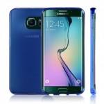 Силиконовый матовый полупрозрачный чехол для Samsung Galaxy S6 Edge