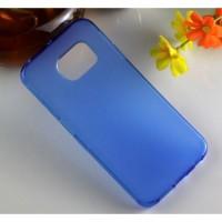 Силиконовый матовый полупрозрачный чехол для Samsung Galaxy S6 Edge Синий