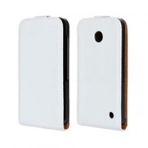 Чехол вертикальная книжка на пластиковой основе для Nokia Lumia 630/635 Белый
