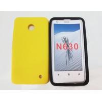 Силиконовый матовый непрозрачный чехол для Nokia Lumia 630/635 Желтый