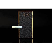 Пластиковый матовый чехол текстура Соты для Sony Xperia M2 dual Черный