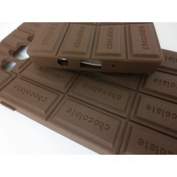Силиконовый дизайнерский фигурный чехол Шоколадка для Samsung Galaxy A3