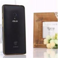 Металлический двухцветный бампер с золотой окантовкой для ASUS Zenfone 5 Черный