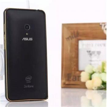 Металлический двухцветный бампер с золотой окантовкой для ASUS Zenfone 5