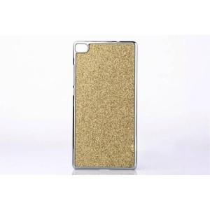 Дизайнерский поликарбонатный чехол текстура Золото для Huawei P8