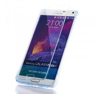 Двухмодульный силиконовый чехол горизонтальная книжка с транспарентной акриловой смарт крышкой для Samsung Galaxy Note 4