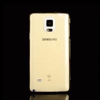Двухмодульный силиконовый чехол горизонтальная книжка с транспарентной акриловой смарт крышкой для Samsung Galaxy Note 4 Бежевый