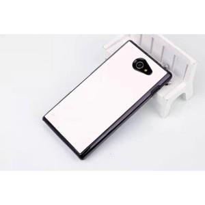 Пластиковый матовый чехол с кожаным покрытием для Sony Xperia M2 dual Белый