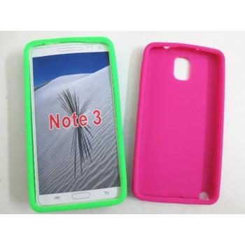 Силиконовый матовый непрозрачный чехол для Samsung Galaxy Note 3
