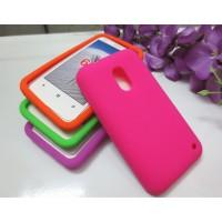 Силиконовый матовый непрозрачный чехол для Nokia Lumia 620