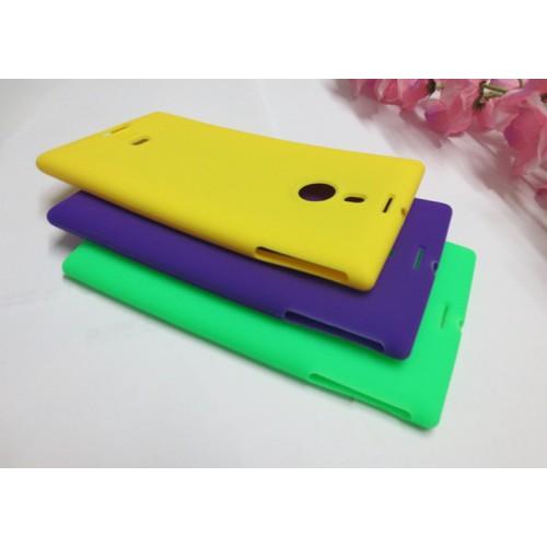 Силиконовый матовый непрозрачный чехол для Nokia Lumia 1520