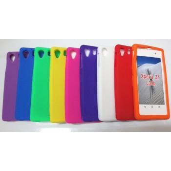 Силиконовый матовый непрозрачный чехол для Sony Xperia Z1
