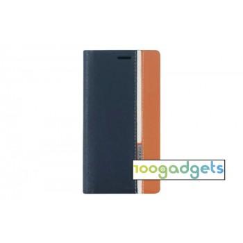 Дизайнерский чехол портмоне с тканевым покрытием подставка на силиконовой основе с внутренним карманом для Asus Zenfone 2