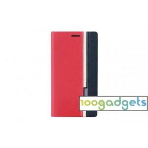 Дизайнерский чехол портмоне с тканевым покрытием подставка на силиконовой основе с внутренним карманом для Asus Zenfone 2 Красный