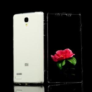 Двухмодульный силиконовый чехол горизонтальная книжка с транспарентной акриловой смарт крышкой для Xiaomi RedMi Note Белый