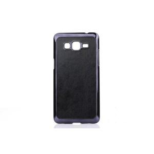 Пластиковый матовый чехол текстура Кожа для Samsung Galaxy Grand Prime