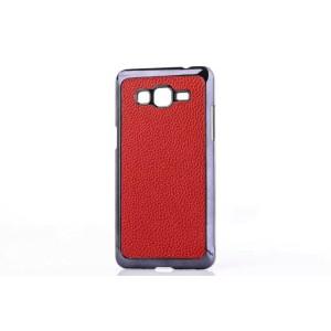 Пластиковый матовый чехол с кожаной поверхностью для Samsung Galaxy Grand Prime
