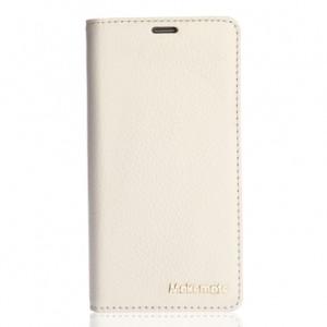 Кожаный чехол портмоне подставка (нат. кожа) для Lenovo S850 Белый