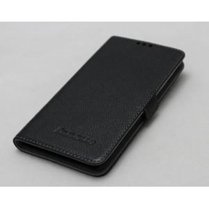 Кожаный чехол горизонтальная книжка (нат. кожа) для Lenovo S850 Черный
