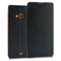Текстурный чехол флип подставка на присоске для Microsoft Lumia 535 Черный