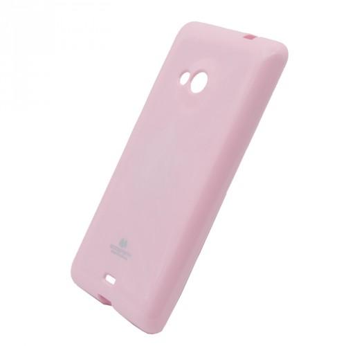 Мягкий пластиковый непрозрачный чехол с глянцевым силиконовым покрытием для Microsoft Lumia 535