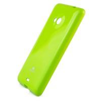 Мягкий пластиковый непрозрачный чехол с глянцевым силиконовым покрытием для Microsoft Lumia 535 Зеленый