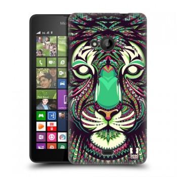 Пластиковый матовый дизайнерский чехол с эксклюзивной серией принтов для Microsoft Lumia 535 (изготовление на заказ)