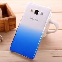 Пластиковый градиентный полупрозрачный чехол для Samsung Galaxy A5 Синий