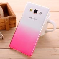 Пластиковый градиентный полупрозрачный чехол для Samsung Galaxy A5 Пурпурный