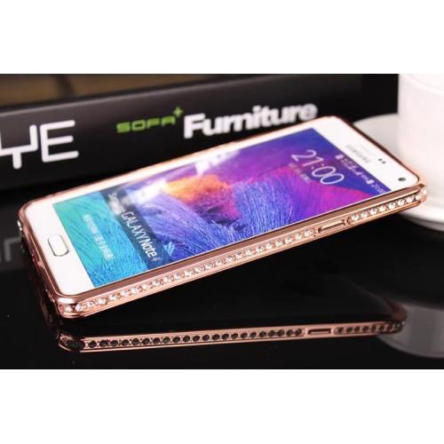 Сборный металлический бампер с аппликацией стразами для Samsung Galaxy A5