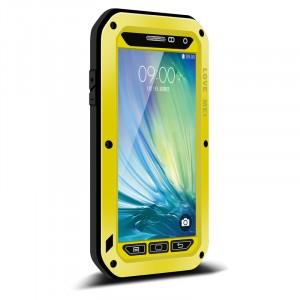 Ультрапротекторный пылеводоударостойкий чехол алюминиевый сплав/закаленное стекло/силиконовый полимер для Samsung Galaxy A5