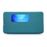 Чехол смарт-флип с активным окном Huawei Ascend Mate 2 Синий