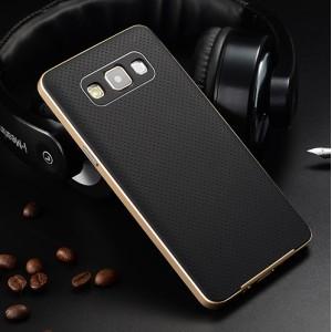 Двухкомпонентный чехол с силиконовой накладкой и поликарбонатным бампером для Samsung Galaxy A7
