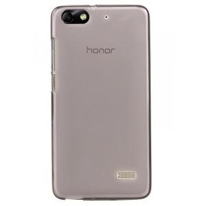 Силиконовый матовый полупрозрачный чехол для Huawei Honor 4C Черный