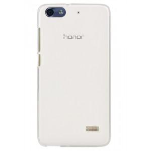 Силиконовый матовый полупрозрачный чехол для Huawei Honor 4C Белый
