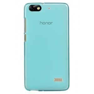 Силиконовый матовый полупрозрачный чехол для Huawei Honor 4C Голубой