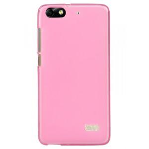 Силиконовый матовый полупрозрачный чехол для Huawei Honor 4C Розовый