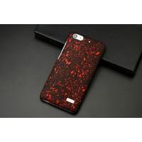 Пластиковый матовый дизайнерский чехол с голографическим принтом Звезды для Huawei Honor 4C Красный