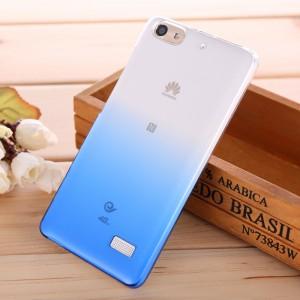 Пластиковый градиентный полупрозрачный чехол для Huawei Honor 4C Голубой