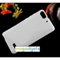 Силиконовый S чехол для Huawei Honor 4C Белый