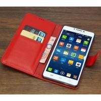 Кожаный чехол портмоне для Lenovo S860 Красный