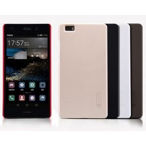 Пластиковый матовый нескользящий премиум чехол для Huawei P8 Lite