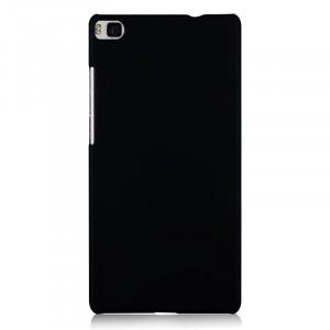 Пластиковый матовый непрозрачный чехол для Huawei P8 Lite Черный