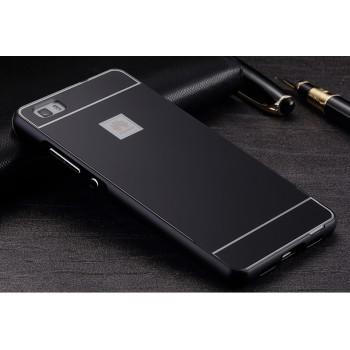 Двухкомпонентный чехол с металлическим бампером и поликарбонатной накладкой для Huawei P8 Lite