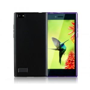 Силиконовый матовый полупрозрачный чехол для Blackberry Leap Черный