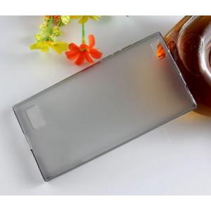 Силиконовый матовый полупрозрачный чехол для Blackberry Leap